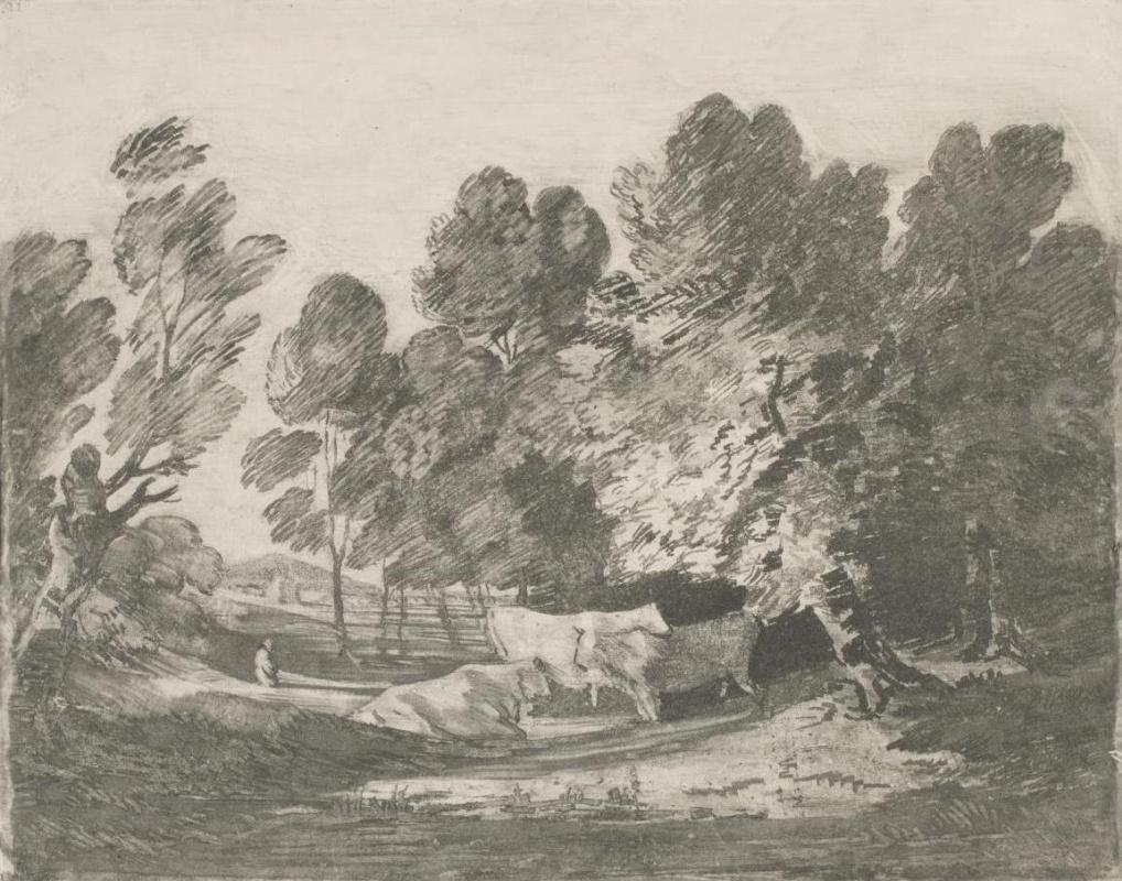 Томас Гейнсборо. Лесной пейзаж с пасущимися коровами