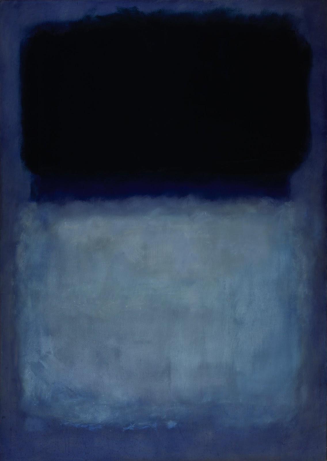 Марк Ротко. Без названия (Зеленый на синем)