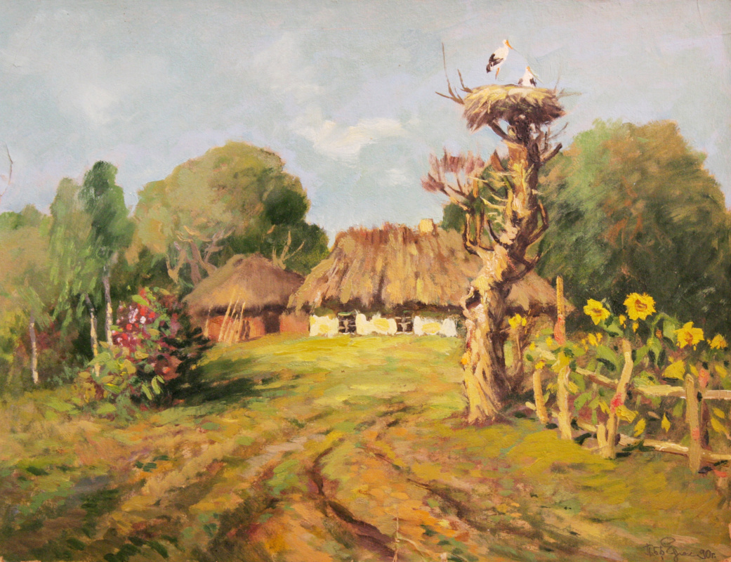 Pavel Feodosievich Bredyuk. The nest of the crane