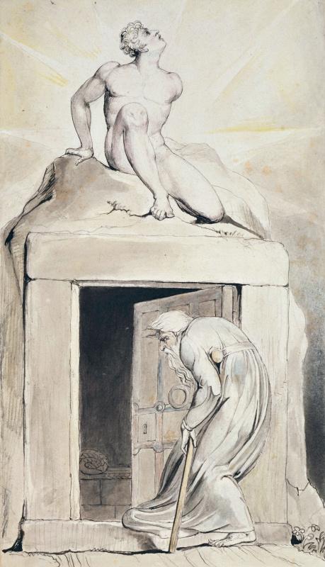 """Уильям Блейк. Дверь смерти. Иллюстрация к поэме Роберта Блэра """"Могила"""""""