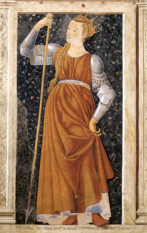 Андреа дель Кастаньо. Знаменитые персоны. Королева Томирис
