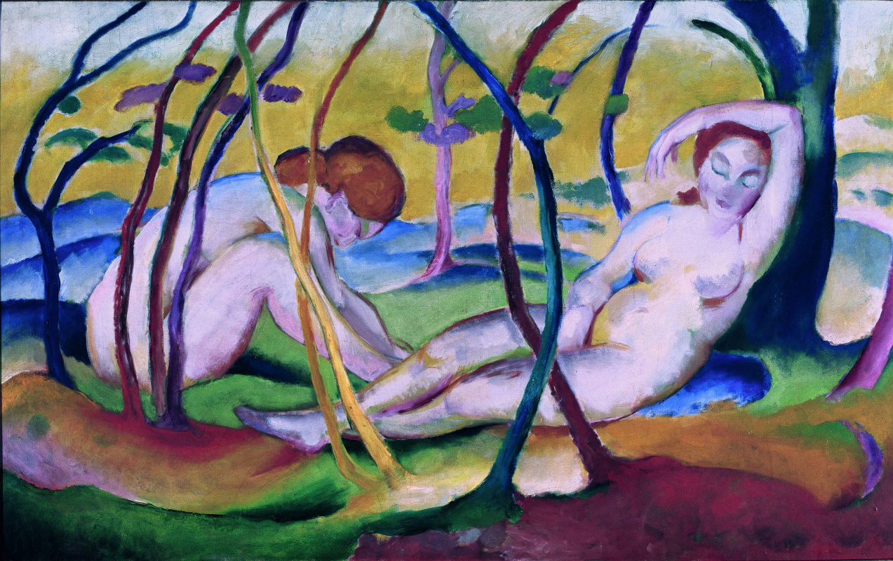 Franz Mark. Nude among the trees