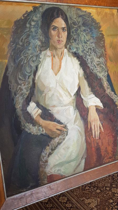 Владимир Дмитриевич Чураков. Женщина в тулупе 1979г