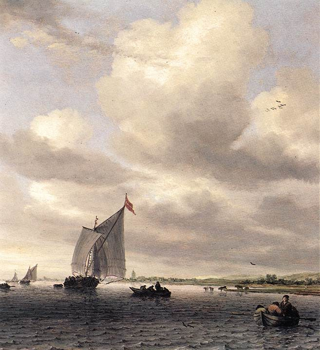 Саломон ван Рёйсдал. Морской пейзаж