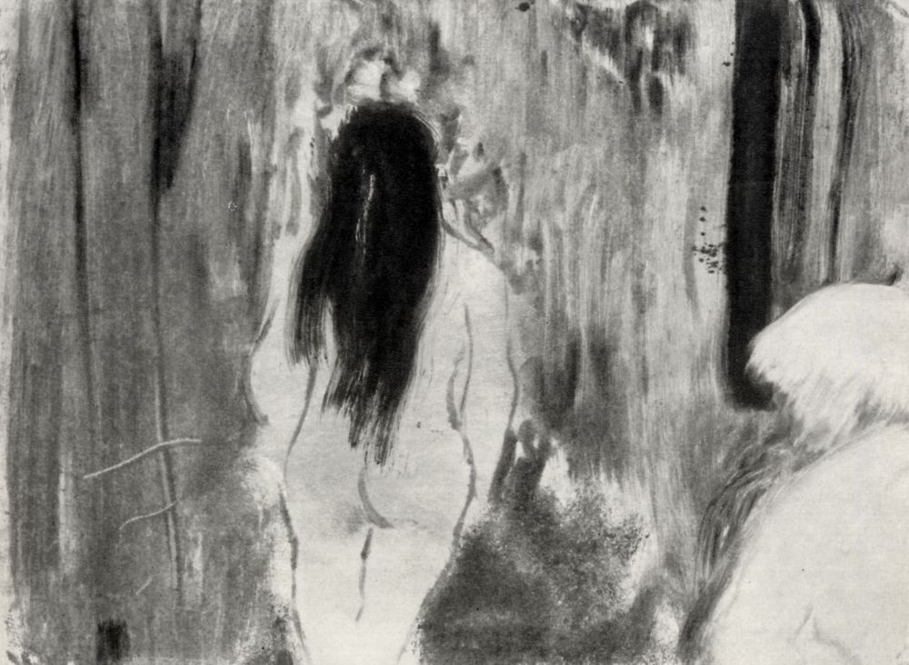 Edgar Degas. Nude in the room, the figure from the back