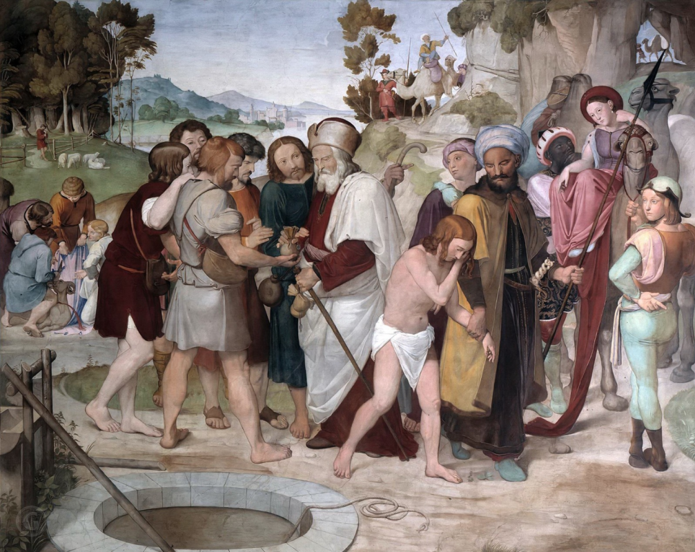 Johann Friedrich Overbeck. Frescoes from Bartholdy's House - Selling Joseph by his brothers. Berggruen Museum, Berlin