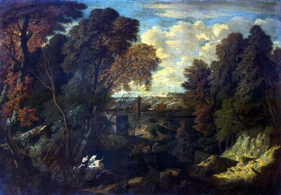 Корнелис Хейсманс. Пейзаж с развалинами башни