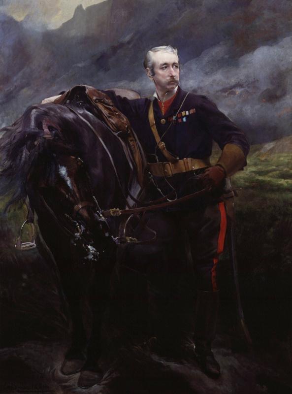 Альберт Поль Бенар 1849 - 1934 Франция. Garnet Joseph Wolseley, 1st Viscount Wolseley. 1880