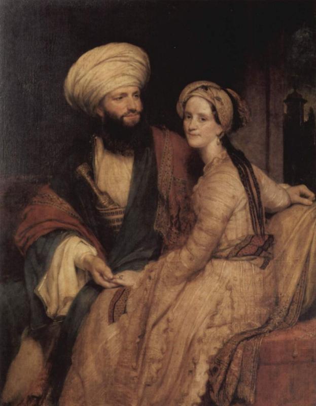 Джеймс Силк Бэкингем с супругой