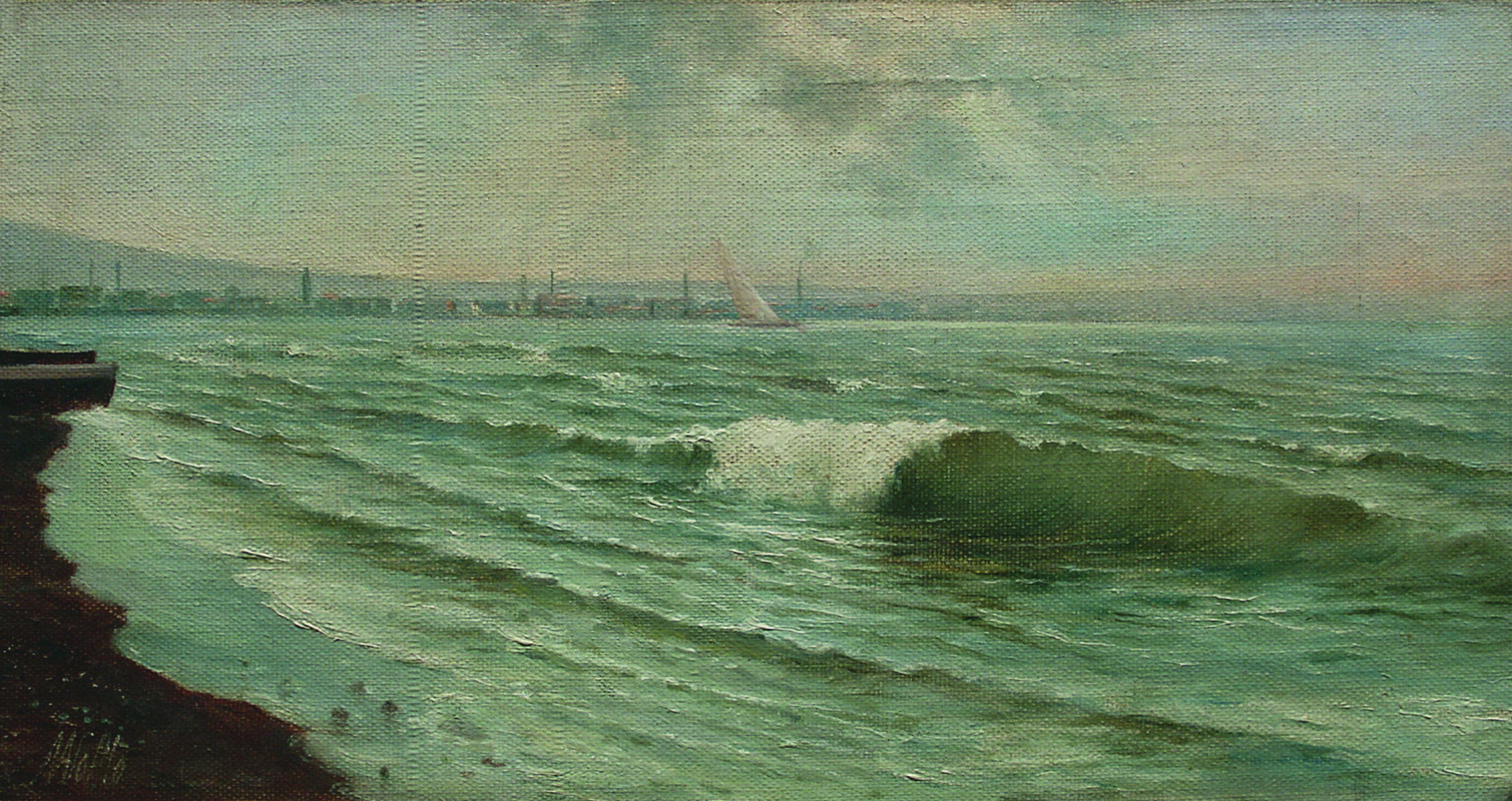 Lev Feliksovich Lagorio. Sailboat in the port