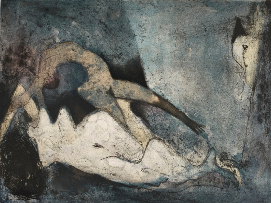Dorothea Tanning. Obnajennye on the couch
