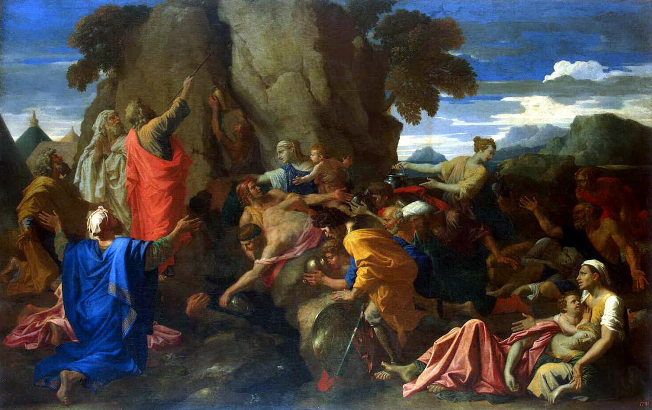Никола Пуссен. Моисей, иссекающий воду из скалы