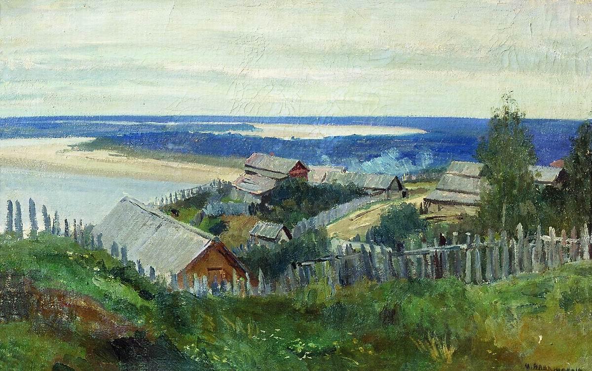 Мануил Христофорович Аладжалов Россия 1862 - 1934. На Волге.