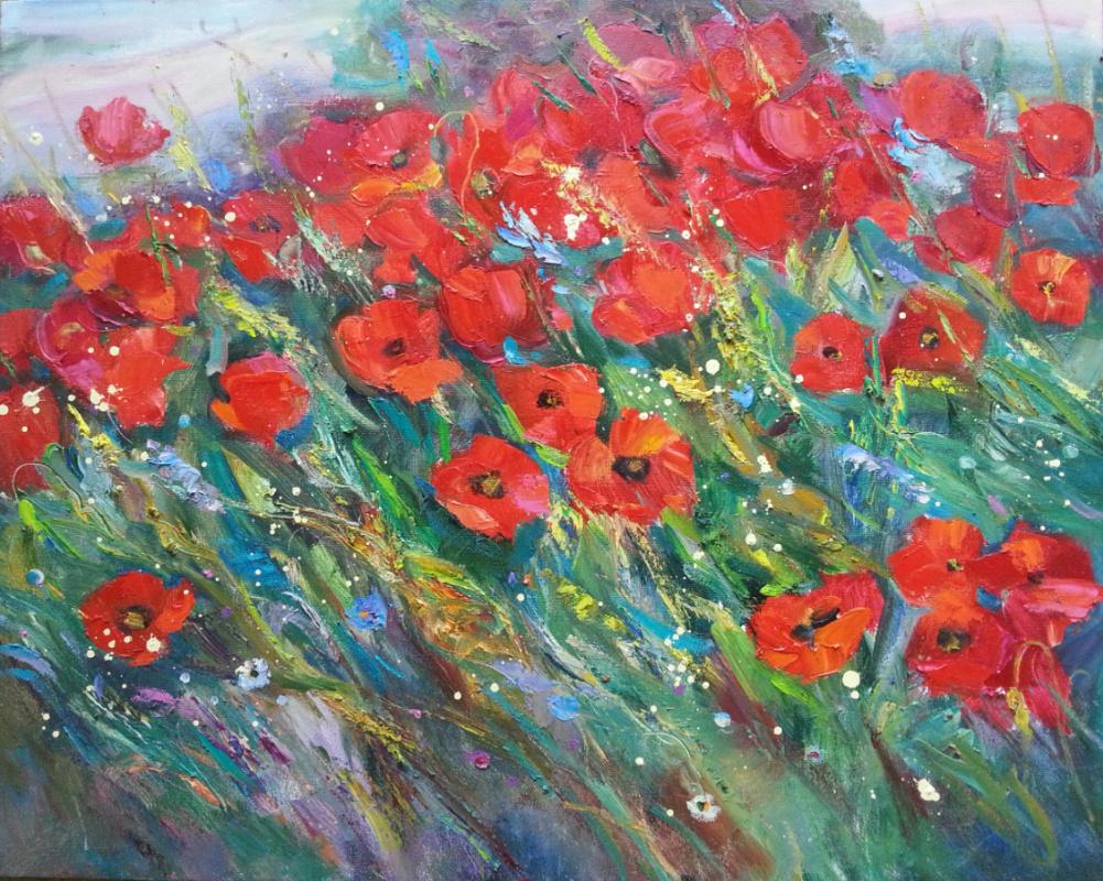 Oksana Viktorovna Zalevskaya. Poppies are blooming.