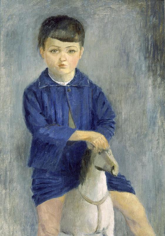Виктор Николаевич Прошкин. На лошадке (портрет сына)