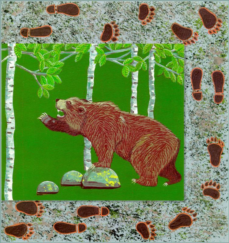 Хедвиг Рапп. Цветы. Пятнистый медведь 05