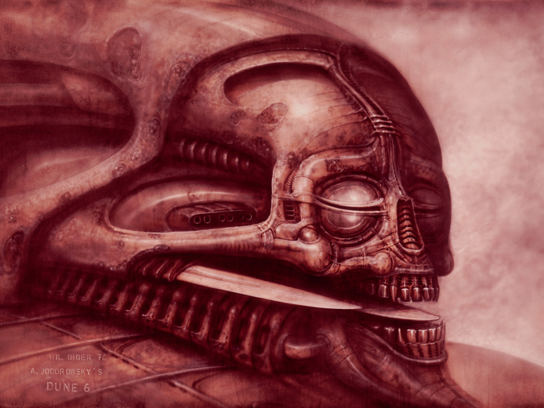 "Hans Rudolph Giger. Sketch for the film ""Dune"""