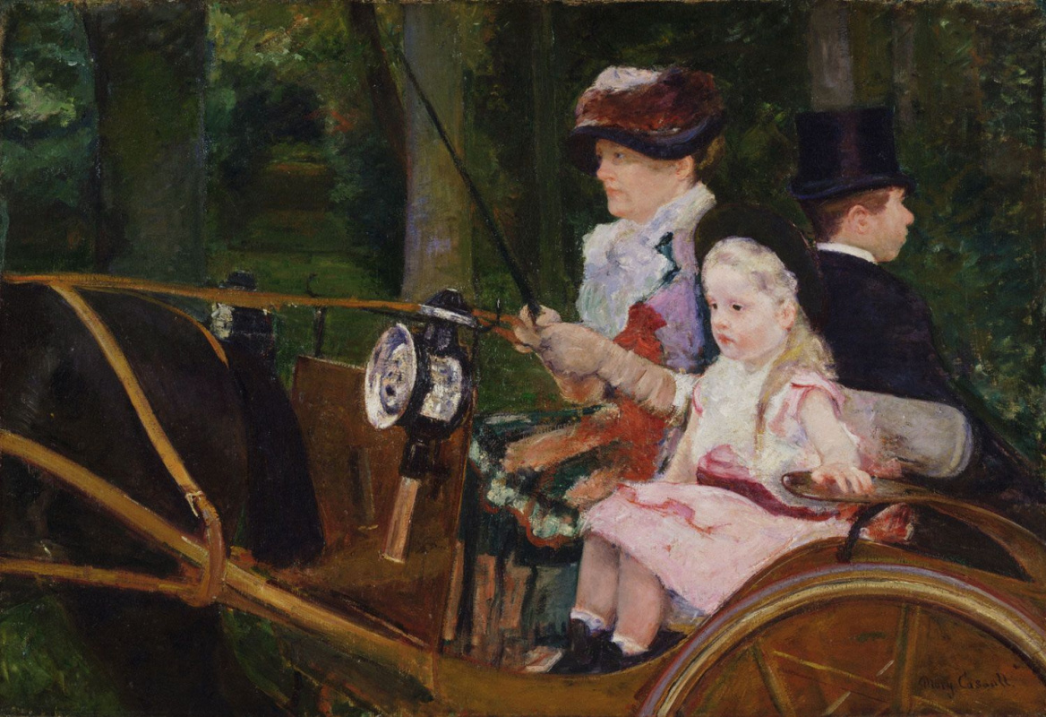 Mary Cassatt. Woman and girl in the wagon