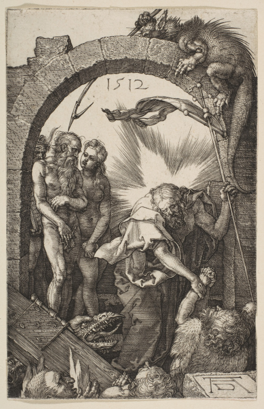 "Albrecht Dürer. Christ in Limbe. From the cycle ""the passion of the Christ"""