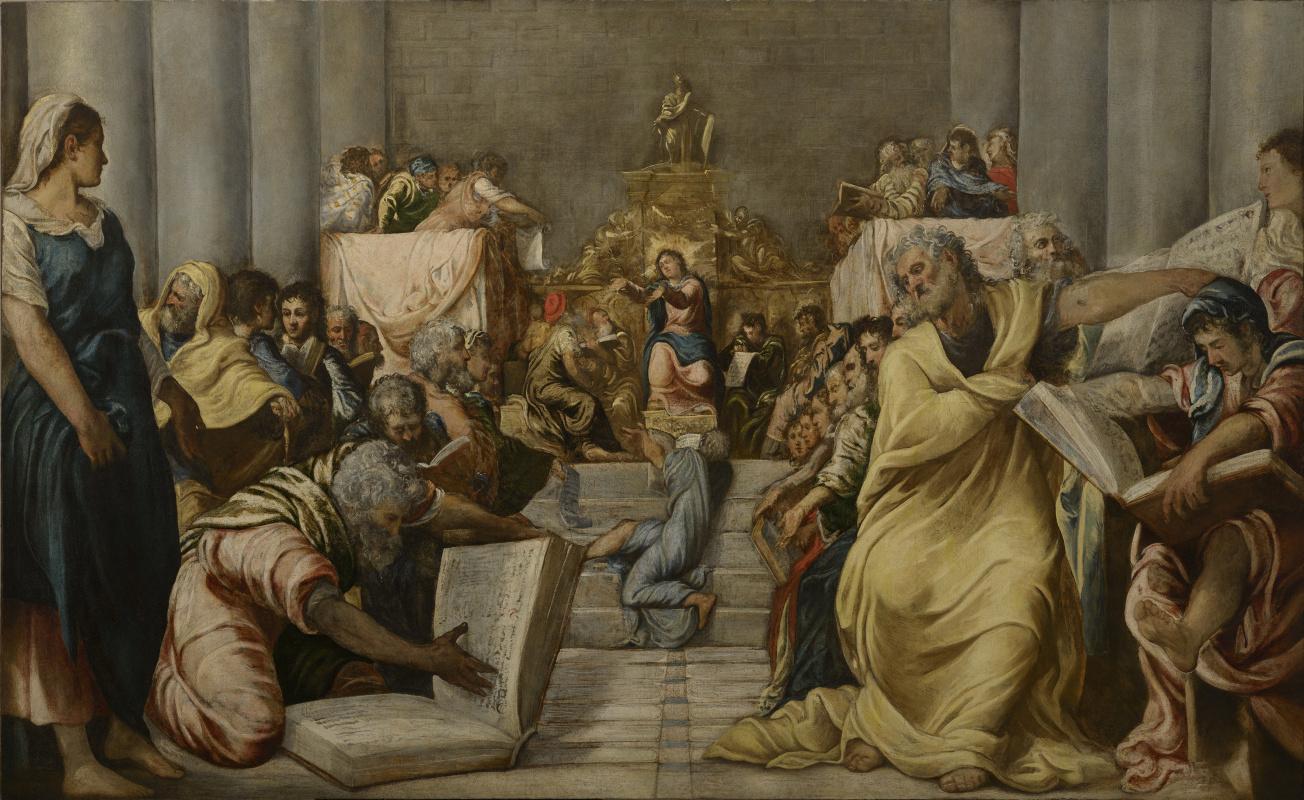 Jacopo (Robusti) Tintoretto. Disputa di Gesù nel tempio