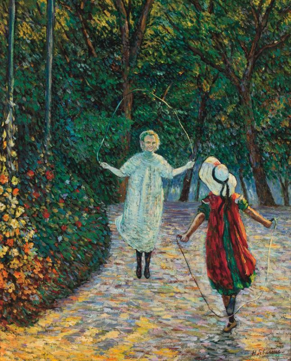 Henri Lebasque. Girls with ropes