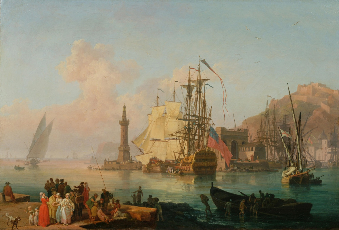 Pierre-Jacques Woller. Imaginary view of the harbour of Naples.