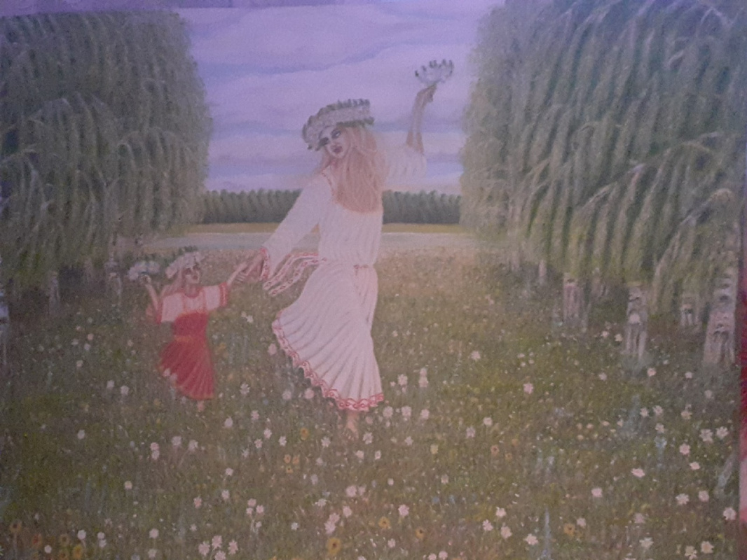 Sergey Nikolaevich Zinoviev. Russian open spaces Free Woman Rejoices in life