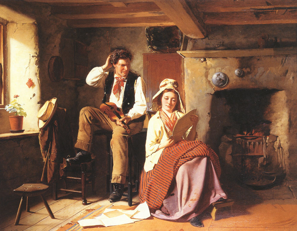 William Henry Midwood. Music lesson