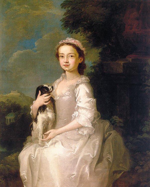 Тициан Вечеллио. Портрет девушки с собакой