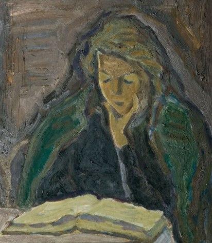 Владимир Семенович Чернецов. Портрет жены за книгой