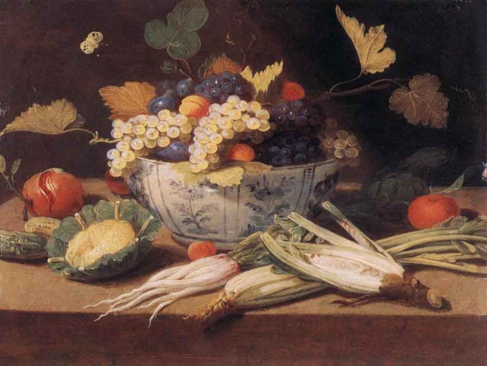 Ян ван Кессель Старший. Натюрморт с овощами