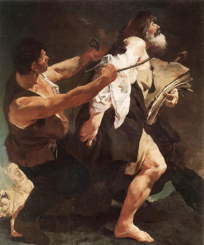 Джованни Баттиста Пьяццетта. Святой Иаков, ведомый на казнь