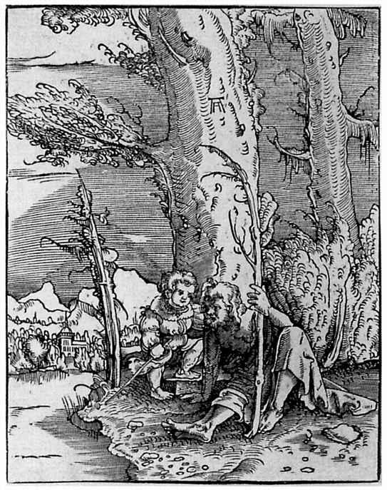 Альбрехт Альтдорфер. Святой Христофор, сидящий на берегу