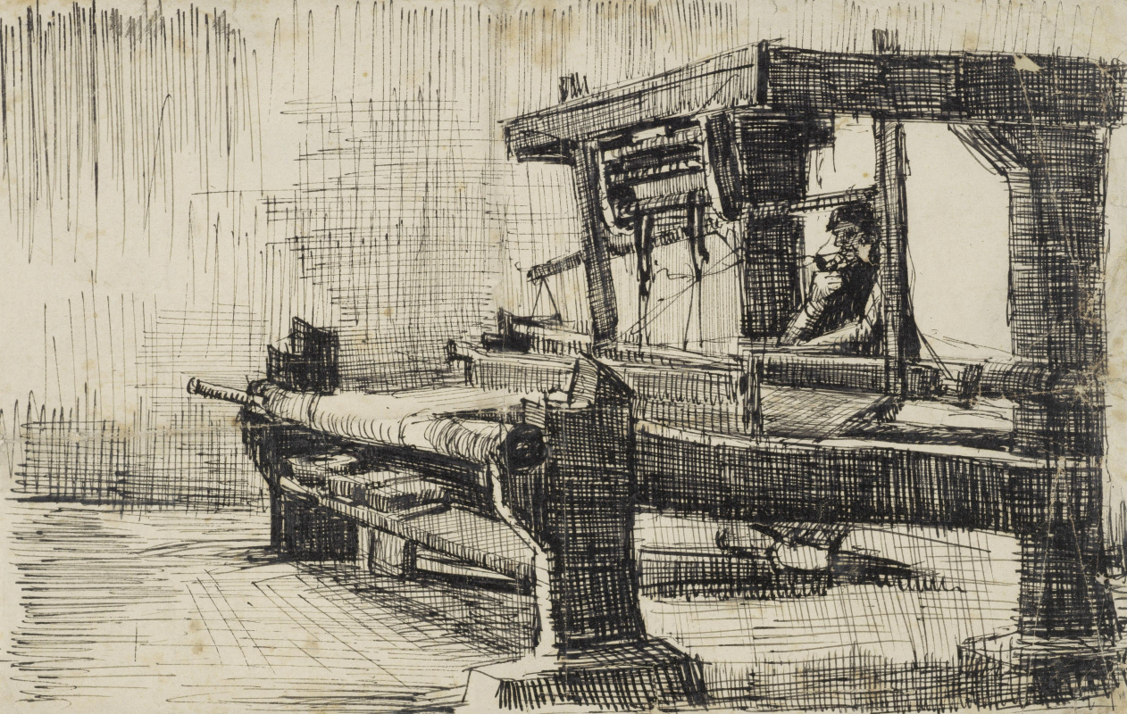 Vincent van Gogh. Weaver facing left