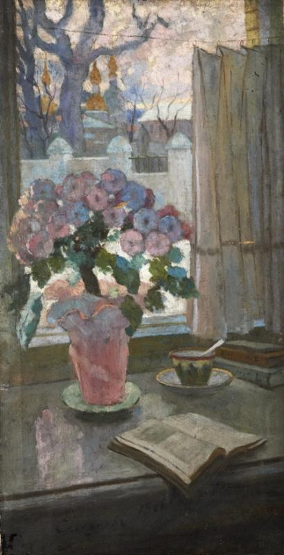 Иван Федорович Селезнев. Цветы на подоконнике