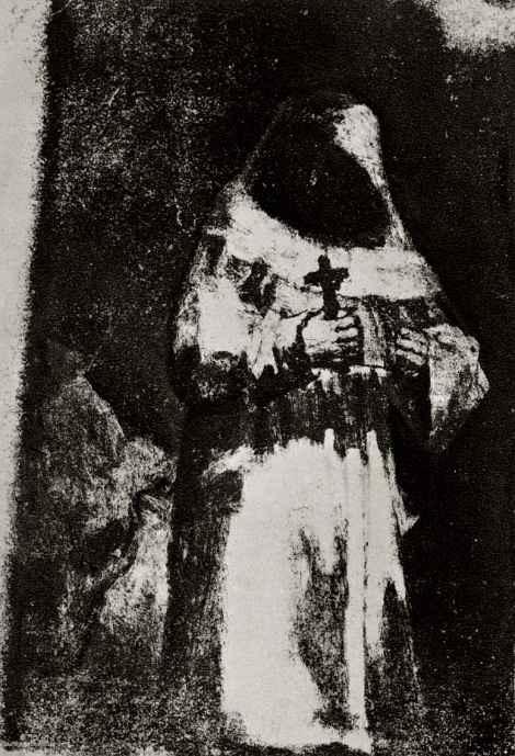 Francisco Goya. Monk