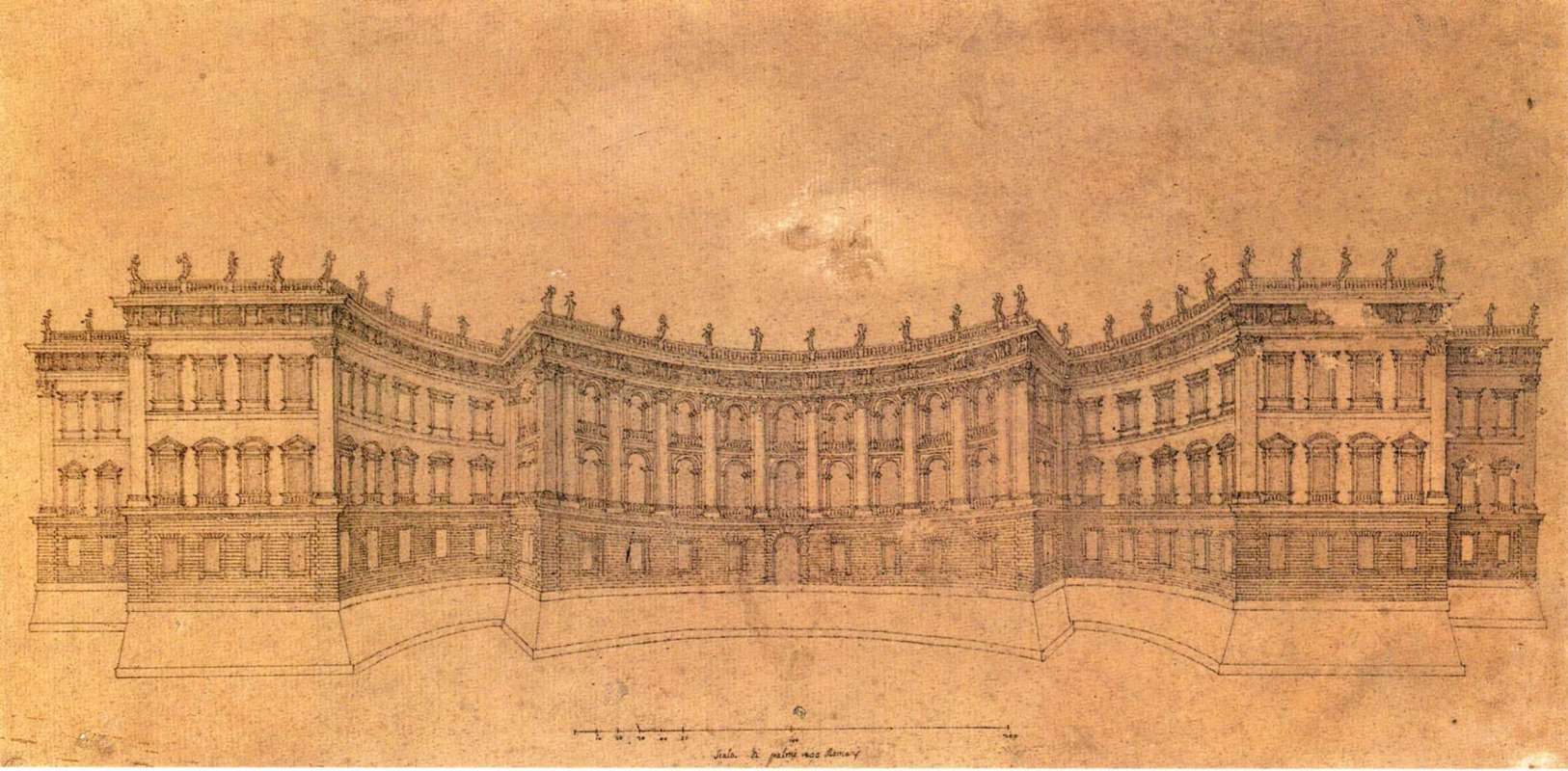 Gian Lorenzo Bernini. Louvre Museum, second version of the facade