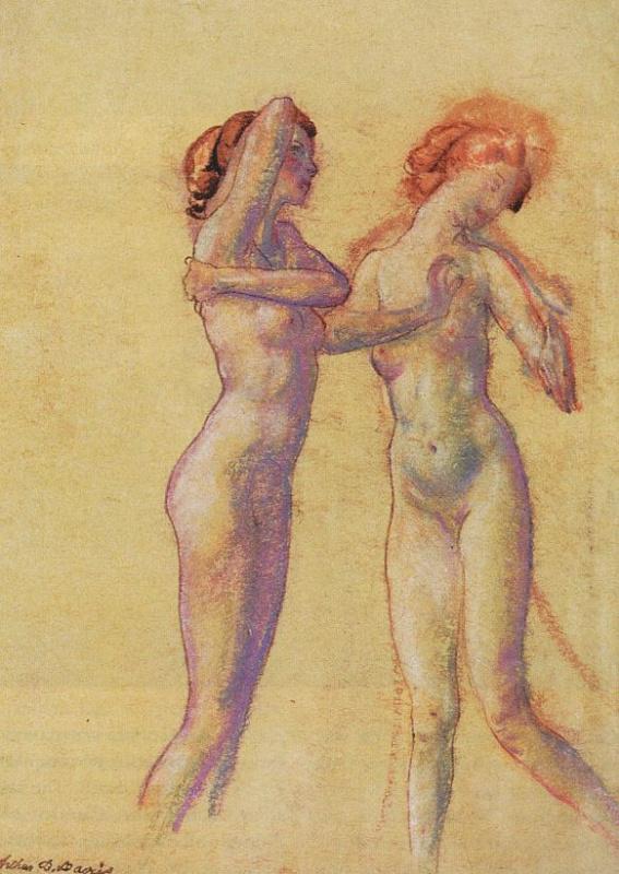 Две обнаженные девушки