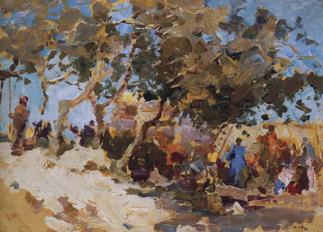 Sergey Fedorovich Shishko. Samarkand. Bazaar.
