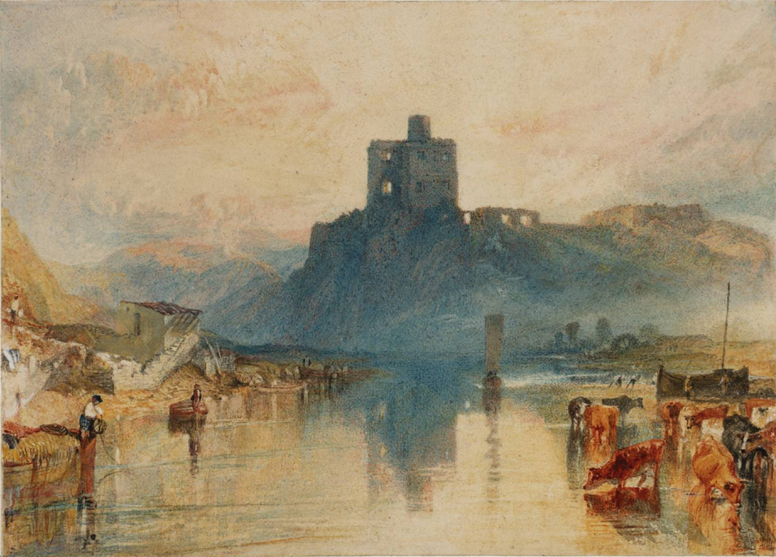 Joseph Mallord William Turner. NOREM castle on the river Tweed