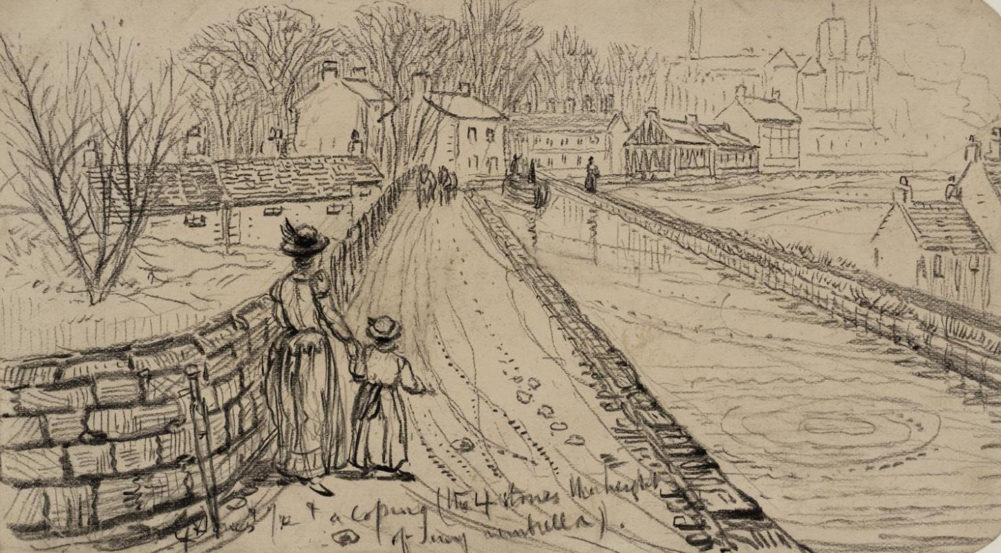 Ford Madox Brown. The Bridgewater canal, the site for towing vessels