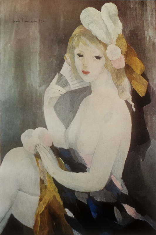 Marie Lorenzen. Girl with a fan