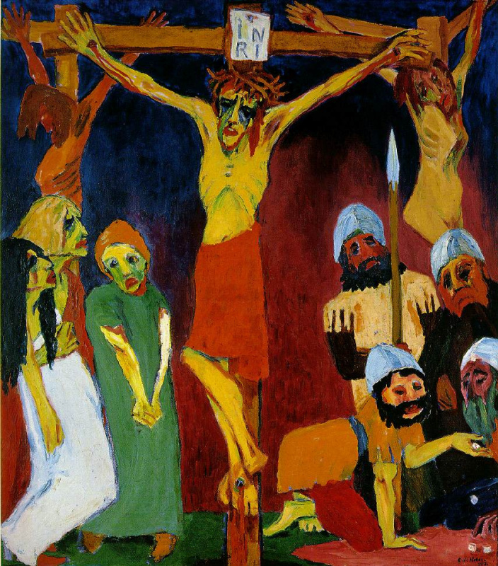 Emil Nolde. The Crucifixion of Christ