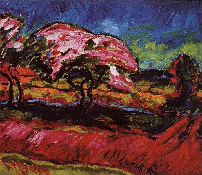 Karl Schmidt-Rottluff. Blooming trees