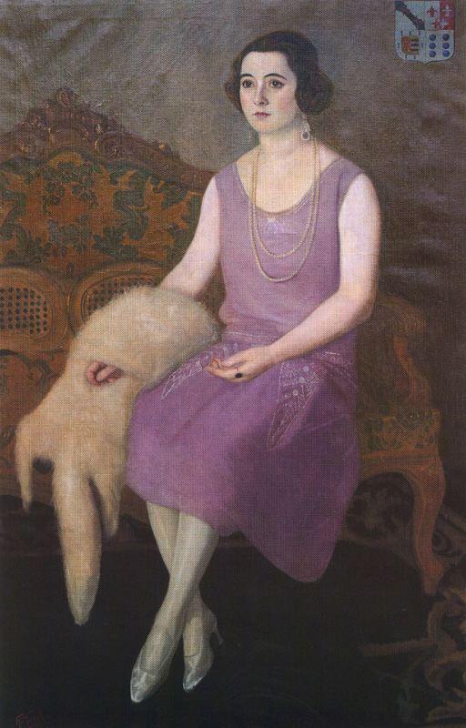 Антонио Медаль. Портрет Пепучи Санджурио Оза из Кракемберга