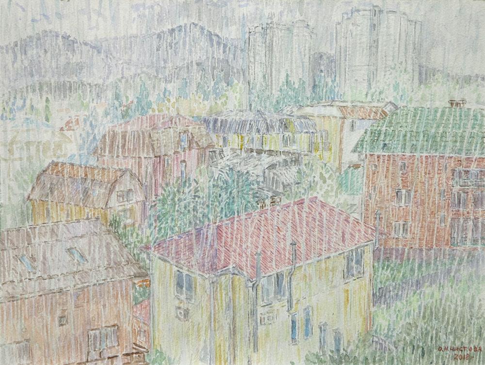 Olga Nikolaevna Chistova. Adler, rain.