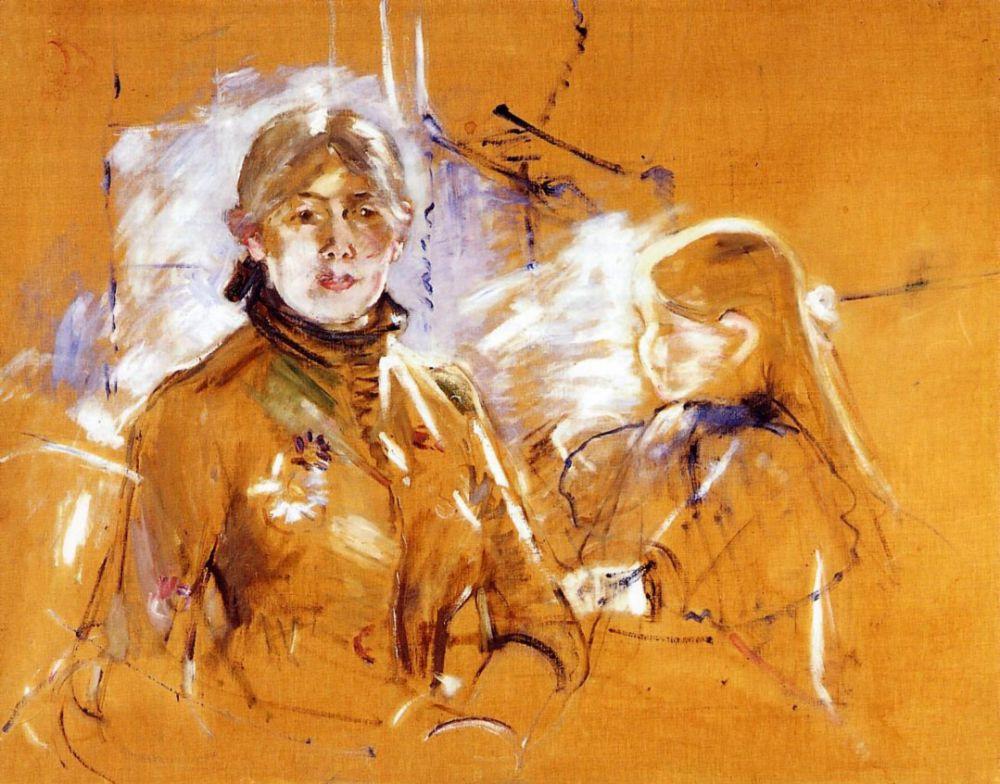 Берта Моризо. Портрет Берты Моризо и ее дочери
