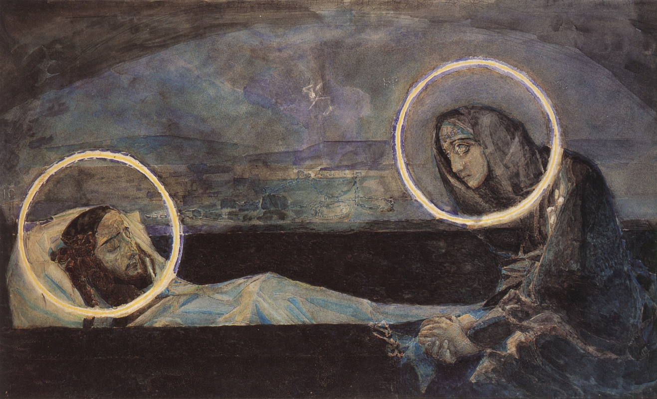 Mikhail Vrubel. Lamentation (the second option). The sketch to the paintings of Vladimir Cathedral in Kiev