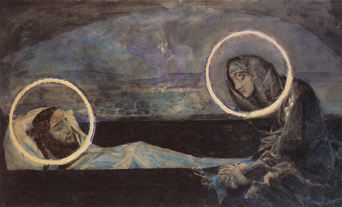 Михаил Александрович Врубель. Надгробный плач (второй вариант). Эскиз к росписям Владимирского собора в Киеве