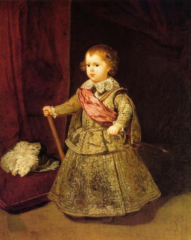Diego Velazquez. Portrait of Prince Baltasar Carlos in silver suit
